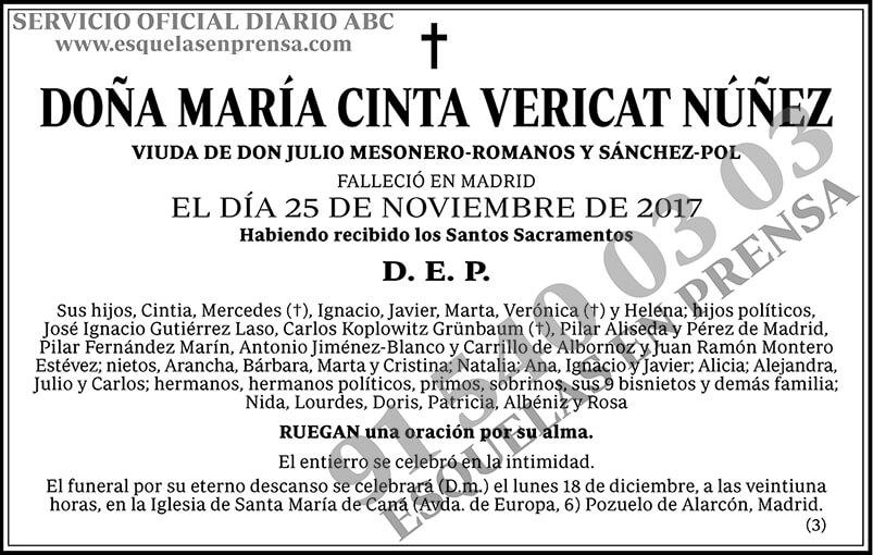 María Cinta Vericat Núñez